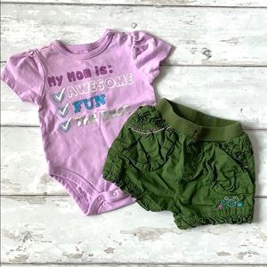 Children's Place Baby Shorts Onesie 0-3m Outfit
